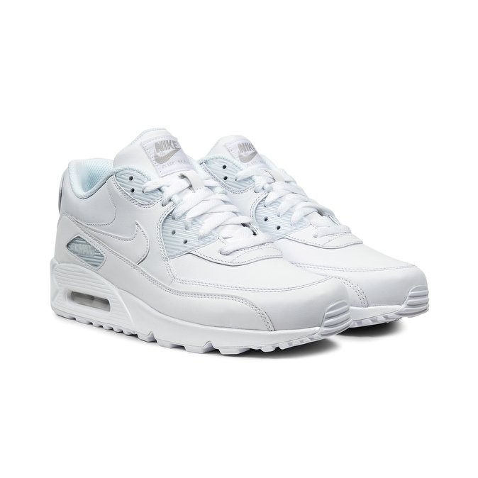 dcc3b5a9d4 ... australia nike air max 90 leather mens low sneakers 302519 113 white  736fe a0db1