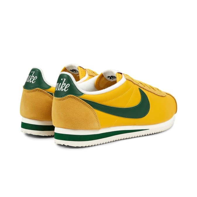 huge selection of b907f dcf94 ... Nike Classic Cortez Nylon Premium Men s Low Sneakers 876873-700 Yellow  ,Green ...