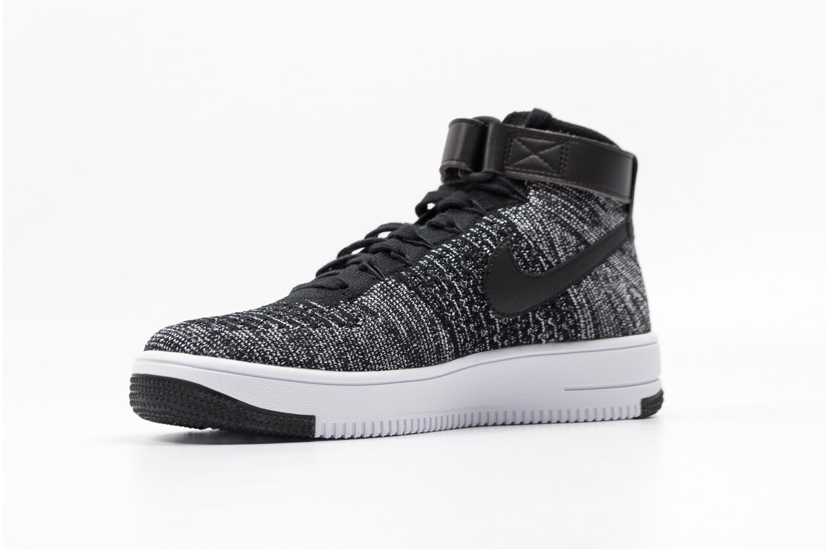 timeless design e329b be655 Nike AF1 ULTRA FLYKNIT MID 817420-004 Black ,White