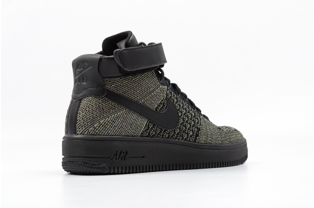 reputable site d4183 3e5ad Nike AF1 ULTRA FLYKNIT MID 817420-301 Green ,Black ,White