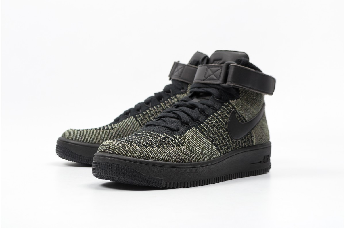 reputable site 18b3e 7dd82 Nike AF1 ULTRA FLYKNIT MID 817420-301 Green ,Black ,White