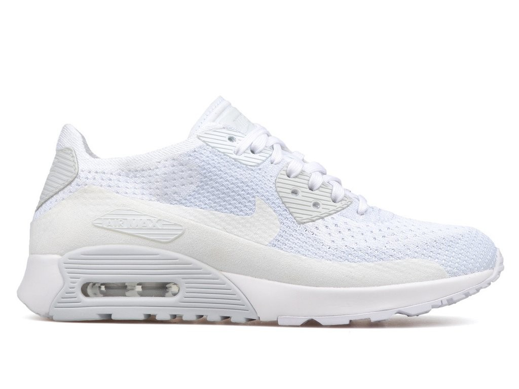 new style 7c283 1fb93 Nike Women's Air Max 90 Ultra 2.0 Flyknit 881109-104 White