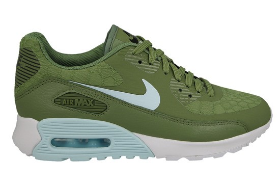 5da9d3b84f Nike Women's Air Max 90 Ultra 2.0 881106-300 Green ,Blue ,White ,Black