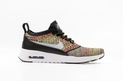 Nike Women's Air Max Thea Ultra Flyknit 881175-600 Grey ,Black ,White