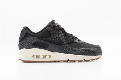 Nike Women's Air Max 90 Premium 443817-010 Black ,Brown