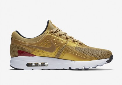 Nike AIR MAX ZERO QS 789695-700 Gold ,Red ,White