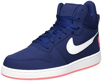 Nike Women's Court Borough Mid 844906-401 Blue ,White