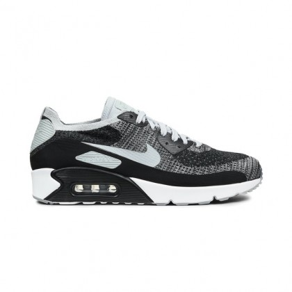 Nike Air Max 90 Ultra 2.0 Flyknit 875943-005 Men's Low Sneakers Black ,Grey
