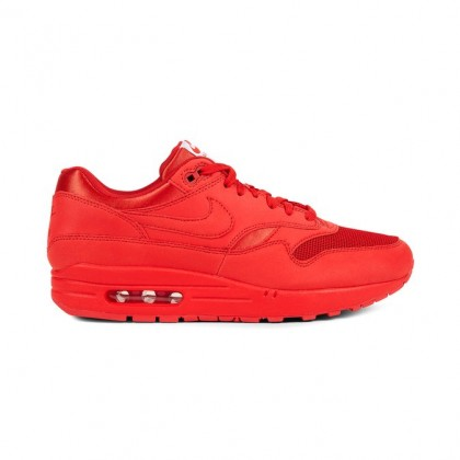 Nike Air Max 1 Premium Men's Low Sneakers 875844-600 Red