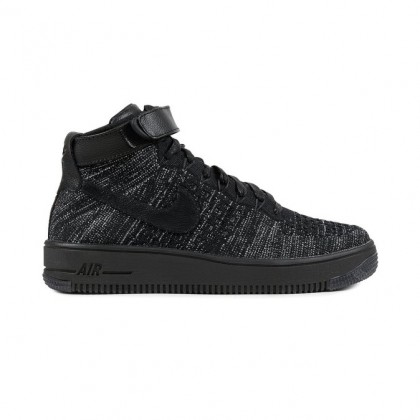 Nike WMNS Air Force 1 Flyknit Women's High Sneakers 818018-002 Black ,White