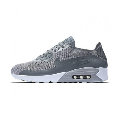 Nike AIR MAX 90 ULTRA 2.0 FLYKNIT 875943-003 Grey ,White