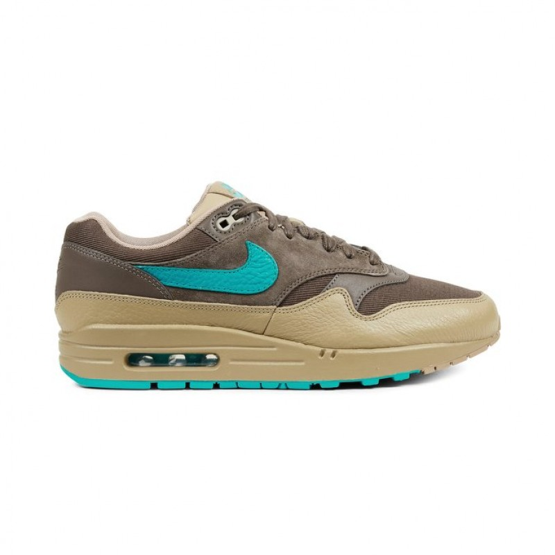 Nike Air Max 1 Premium 875844-200 Men's Low Sneakers Green ,Khaki