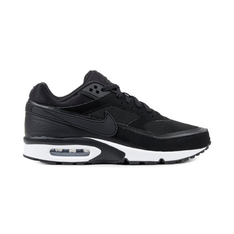 Nike Air Max BW Men's 881981-002 Low Sneakers Black ,White