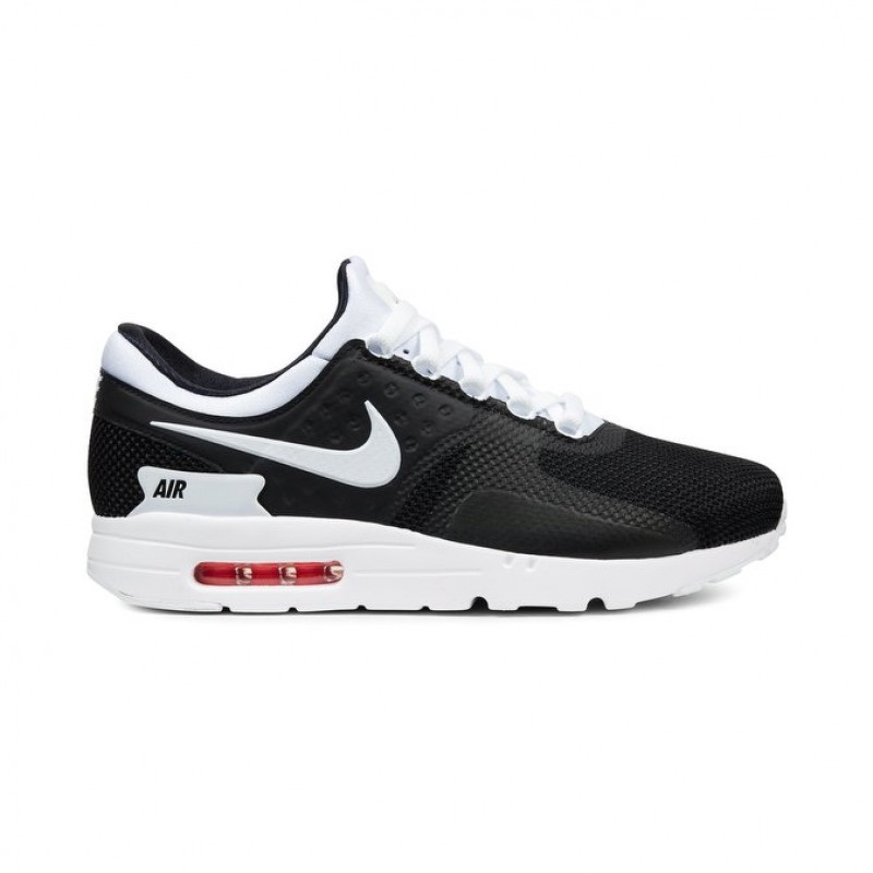 Nike Air Max Zero Essential Men's Low Sneakers 876070-010 Black ,White