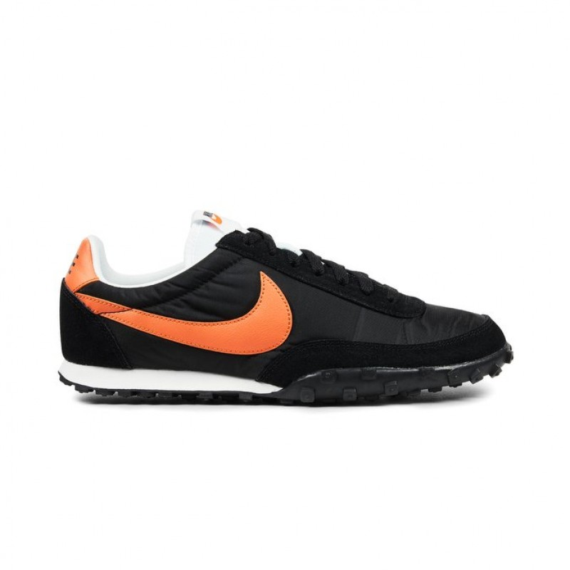 Nike Waffle Racer 17 876255-003 Men's Low Sneakers Black ,Orange