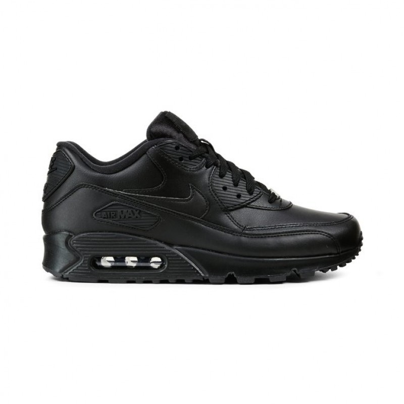 Nike Air Max 90 Leather Men's Low Sneakers 302519-001 Black