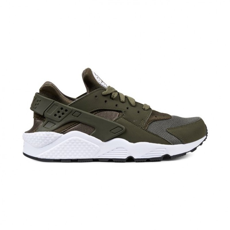 Nike Air Huarache Men's Low Sneakers 318429-306 Khaki ,White