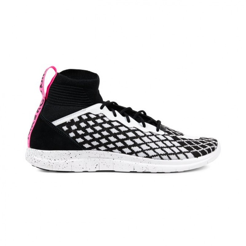 Nike Free Hypervenom 3 FC Flyknit Men's Low Sneakers 898029-001 Black ,White ,Pink