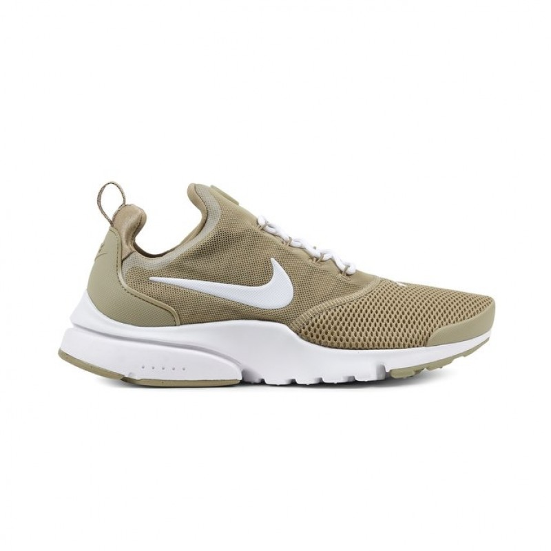 Nike Presto Fly Men's Low Sneakers 908019-202 Khaki ,White