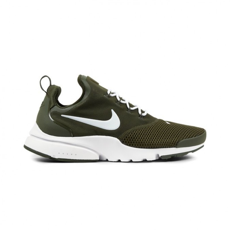 Nike Presto Fly Men's Low Sneakers 908019-300 Khaki ,White