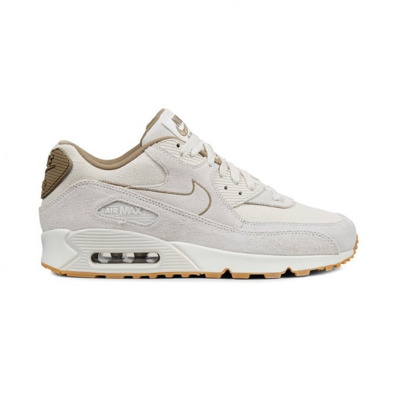 Nike Air Max 90 Premium Men's Low Sneakers 700155-004 Khaki