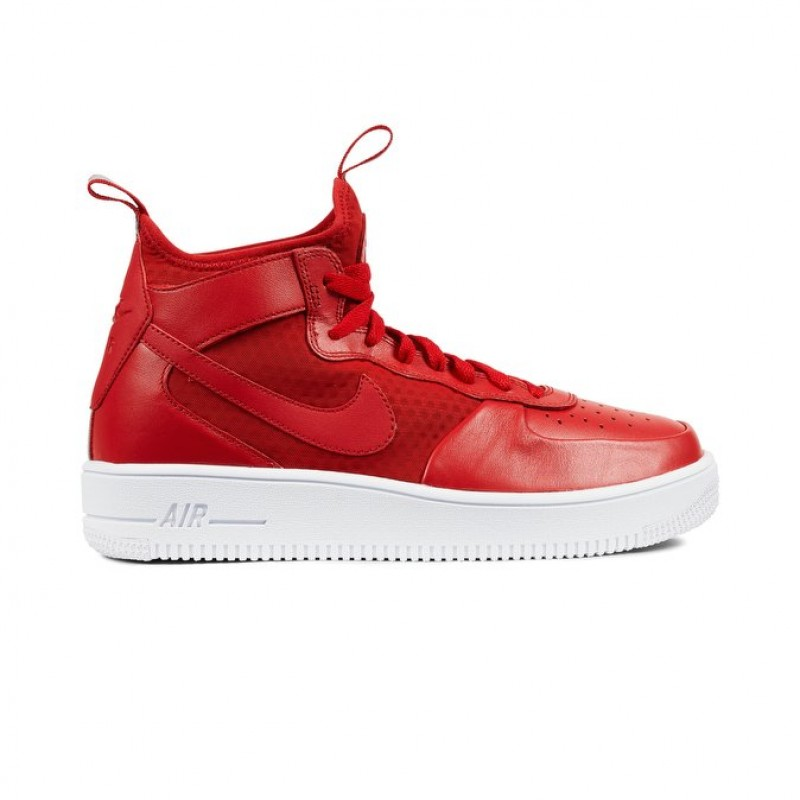 Nike Air Force 1 Ultraforce Mid Men's High Sneakers 864014-600 Red ,White