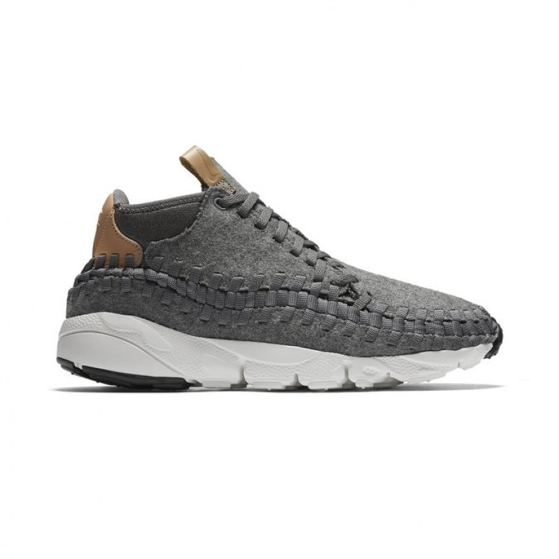 Nike Air Footscape Woven Chukka SE Men's High Sneakers 857874-002 Grey