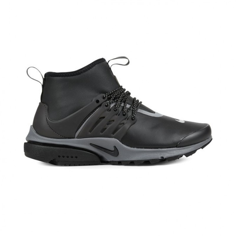 Nike WMNS Air Presto Mid Utility Women's High Sneakers 859527-002 Black ,Silver