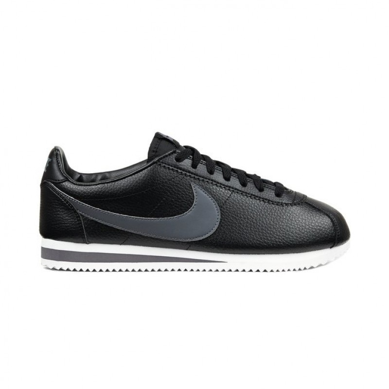 Nike Classic Cortez Leather Men's Low Sneakers 749571-011 Black ,Grey ,White