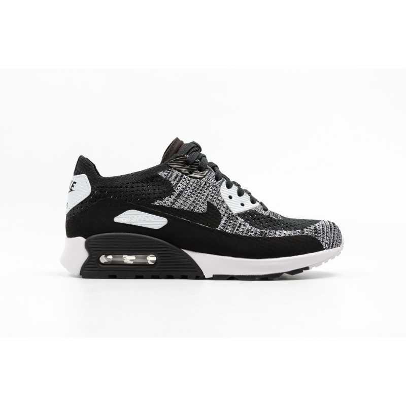 Nike W AIR MAX 90 ULTRA 2.0 FLYKNIT 881109-002 Black ,White