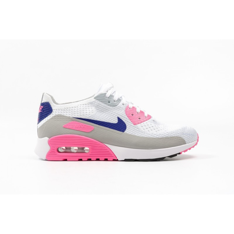 Nike W AIR MAX 90 ULTRA 2.0 FLYKNIT 881109-101 White ,Pink ,Black