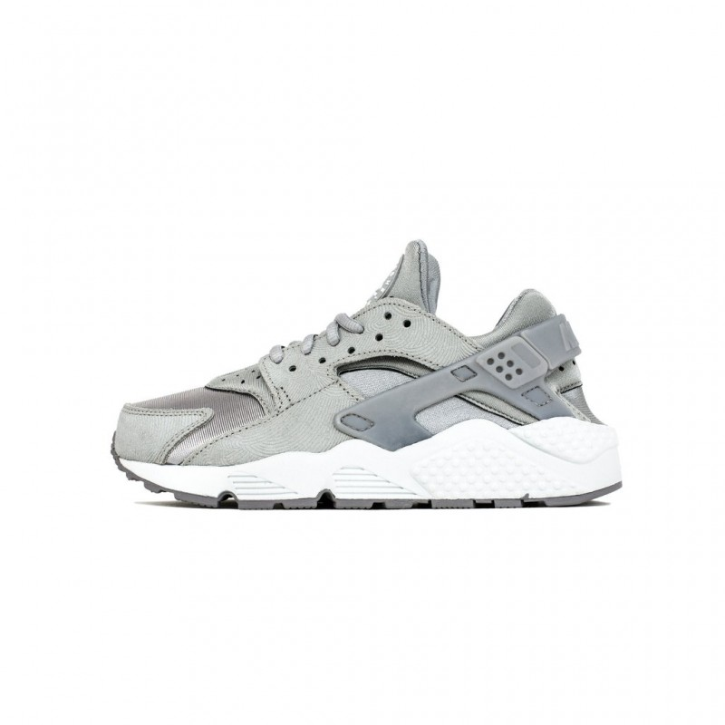 Nike Women's Air Huarache Run PRM Suede 833145-002 Grey ,White