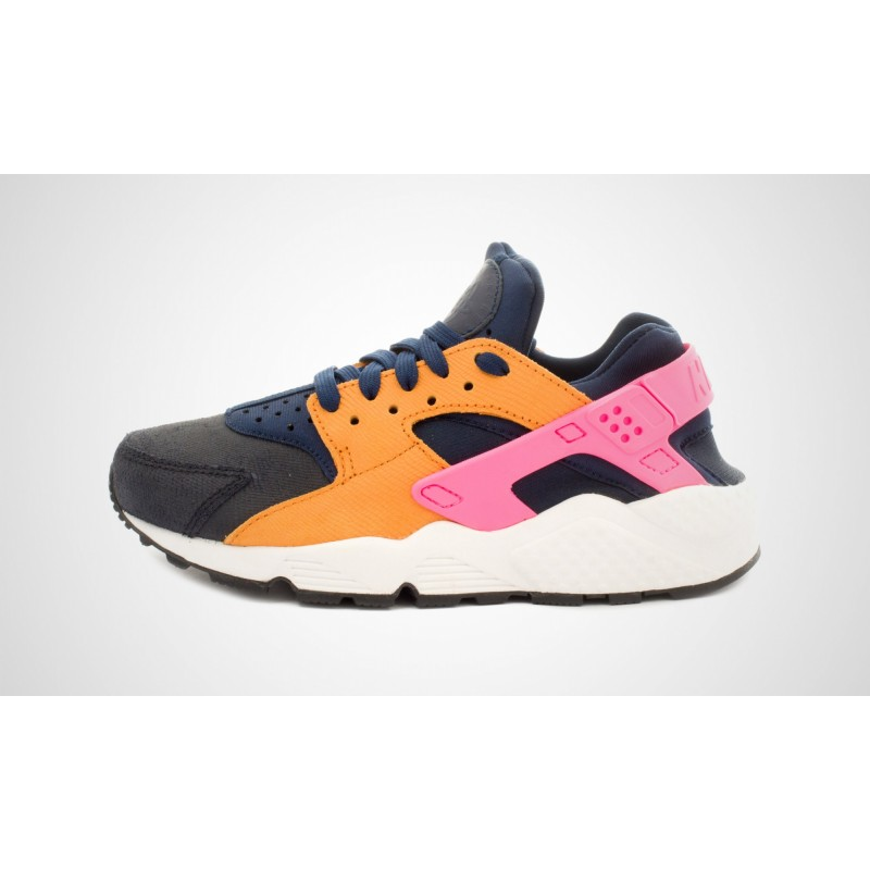 Nike Women's Air Huarache Run Premium 683818-401 Black ,Pink