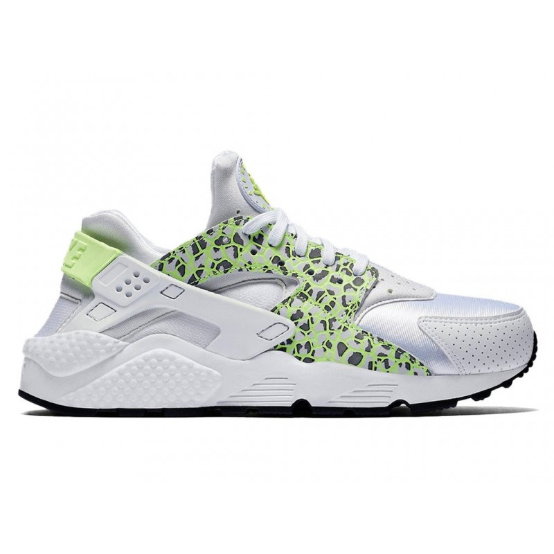 Nike Women's Air Huarache Run Premium 683818-101 White ,Green ,Black