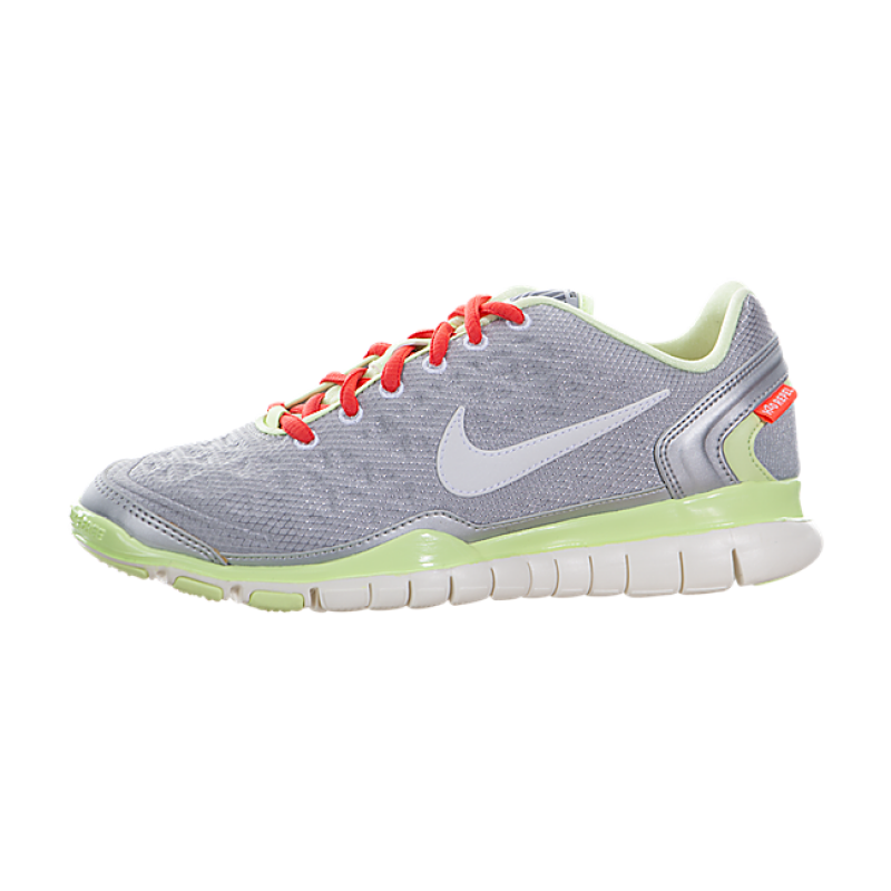Nike Women's Free TR Fit 2 Shield 536437-019 Silver ,White