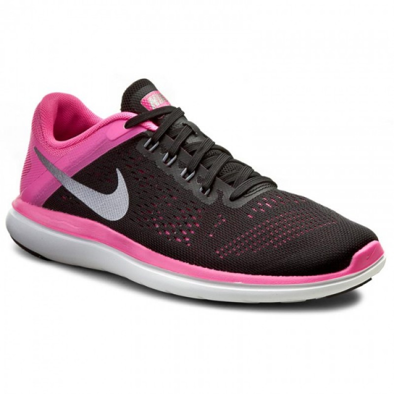 Nike Women's Flex 2016 RN 830751-006 Black ,Grey ,Pink ,White