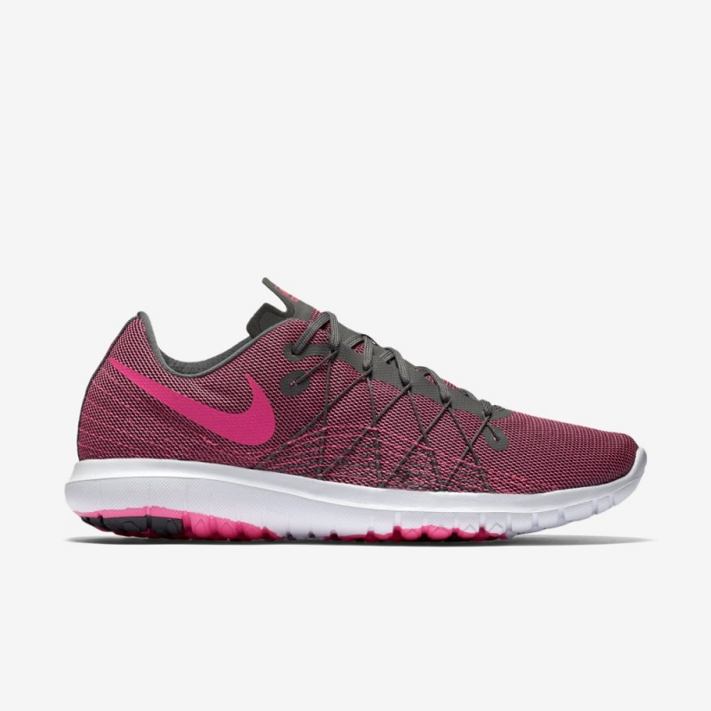 Nike Women's Flex Fury 2 819135-007 Grey ,White ,Pink