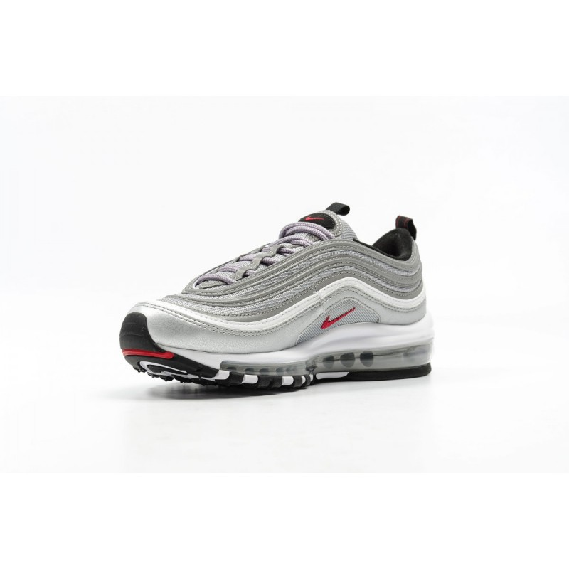 Nike Women's Air Max 97 OG QS 885691-001 Silver ,Red ,Black ,White