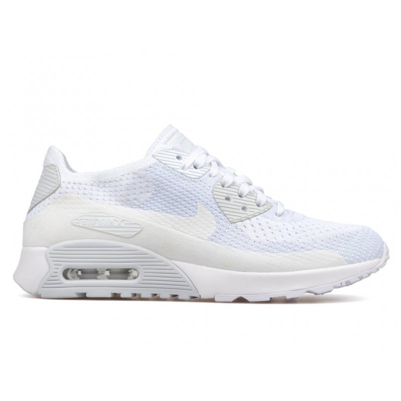 Nike Women's Air Max 90 Ultra 2.0 Flyknit 881109-104 White