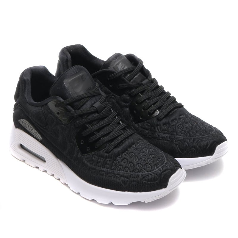 Nike Women's Air Max 90 Ultra Plush 844886-001 Black ,White