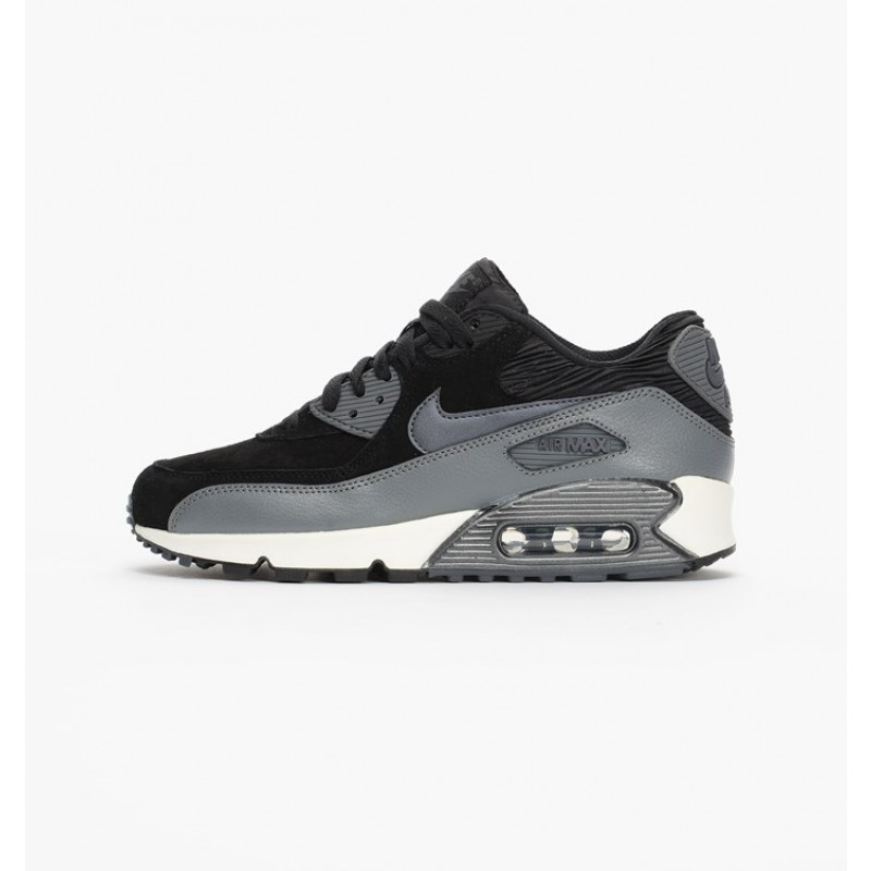 Nike Women's Air Max 90 Leather 768887-001 Black ,Grey
