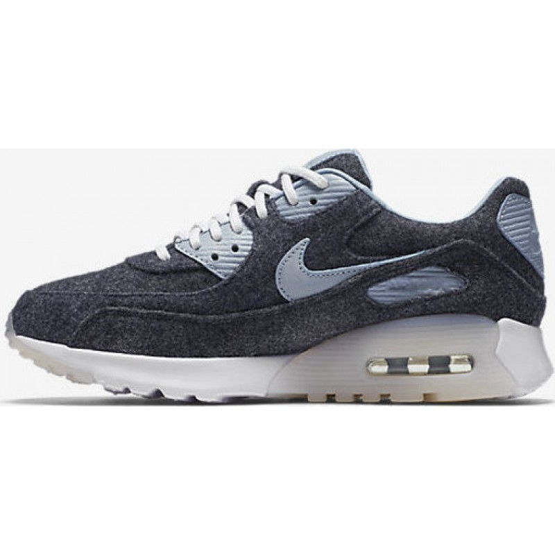 Nike Women's Air Max 90 Ultra Premium 859522-400 Blue ,Grey ,White