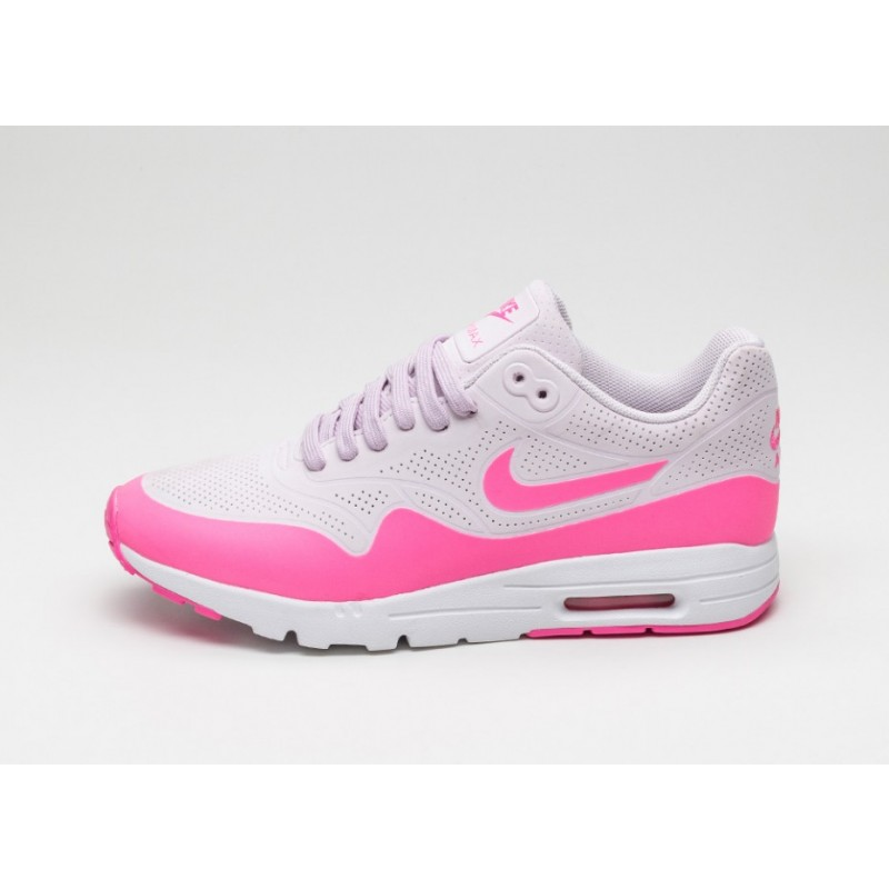 Nike Women's Air Max 1 Ultra Moire 704995-501 Pink ,White