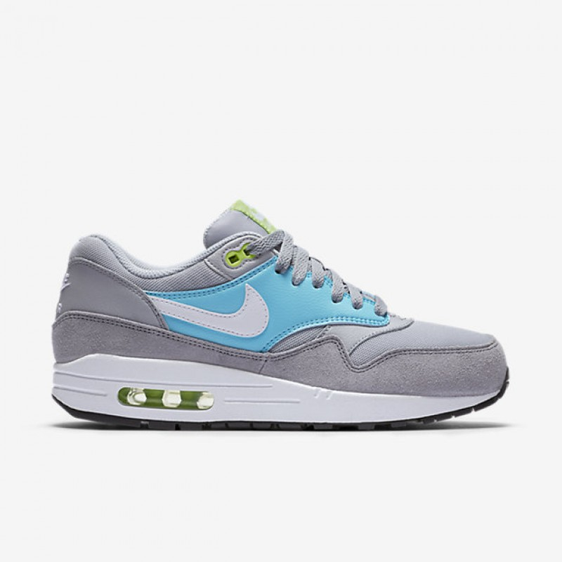Nike Women's Air Max 1 Essential 599820-024 Grey ,Blue ,White