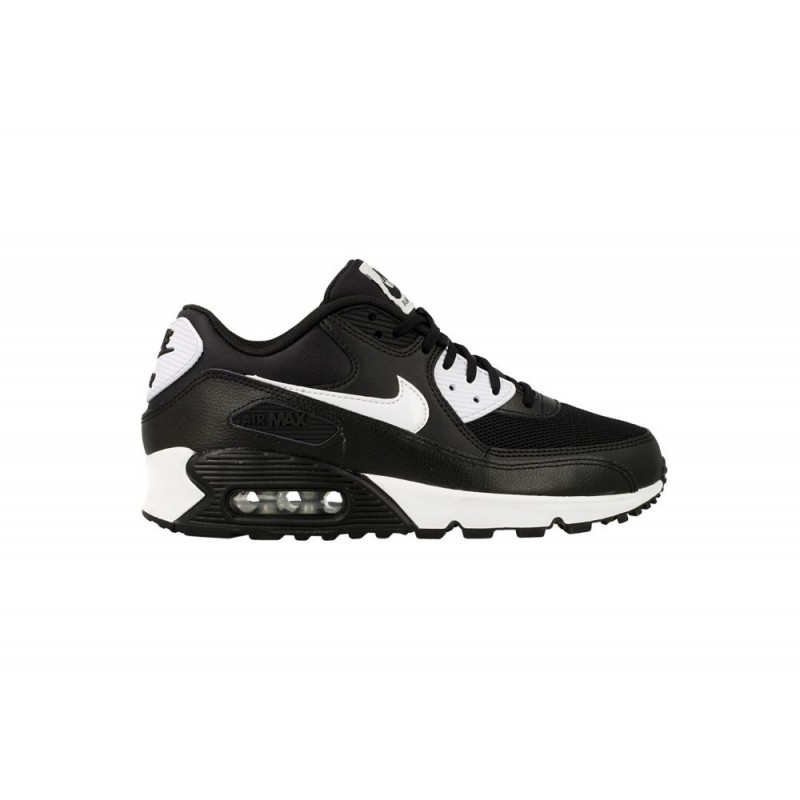 Nike Women's Air Max 90 Essential 616730-023 Black ,Silver ,White