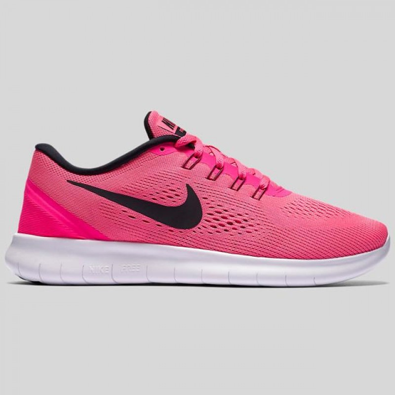 Nike Women's Free RN 831509-600 Pink ,White ,Black