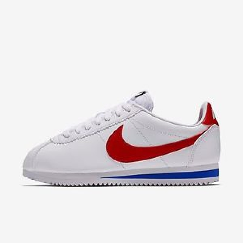 Nike Women's Classic Cortez Leather 807471-103 White ,Red