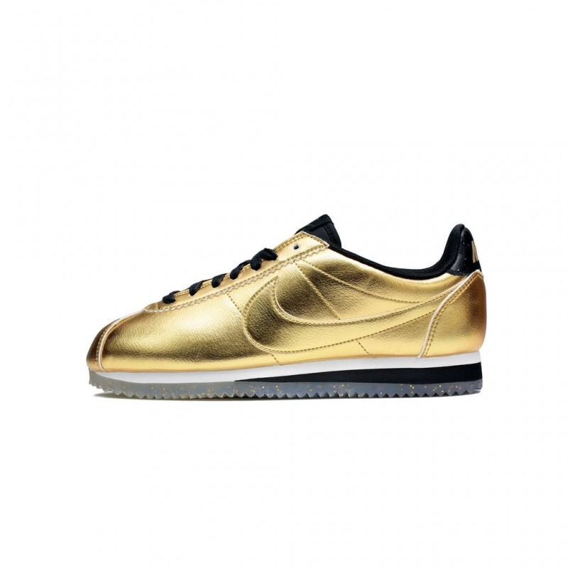 Nike Women's Classic Cortez Leather SE 902854-700 Gold ,White ,Black