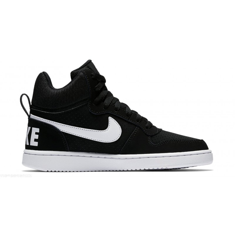 Nike Women's Court Borough Mid 844906-010 Black ,White