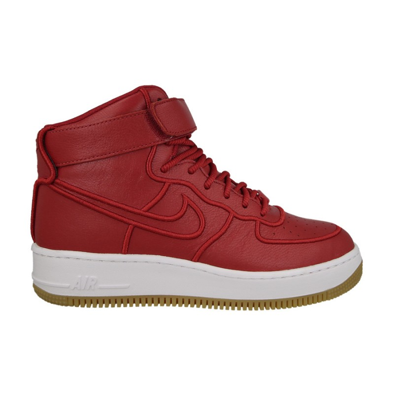 Nike Women's AF1 Upstep High SI 881096-600 Red ,White ,Brown